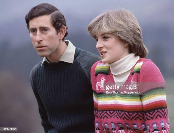 British Royalty Craigowan Lodge Balmoral Scotland 6th May 1981 Prince Charles and Lady Diana Spencer