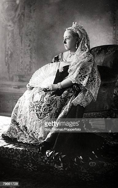 British Royalty HMQueen Victoria of Great Britain portrait who reigned on the throne from 1837 and was perhaps the most respected British monarch of...