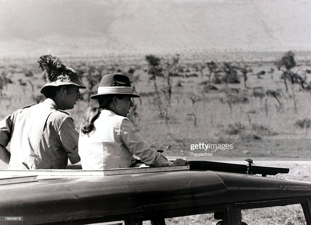 British Royalty, Kenya, Africa, 15th February 1971, Their Royal Highnesses Prince Charles and Princess Anne pictured at the Masai Game Reserve in south west Kenya : News Photo