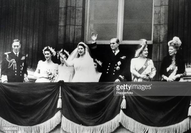 British Royalty London England 20th November 1947 After the wedding of Princess Elizabeth and Prince Philip The Duke of Edinburgh members of the...