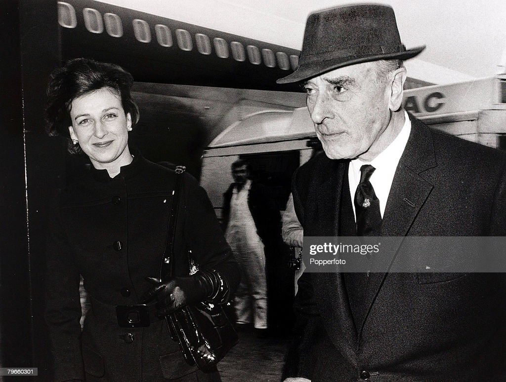 British Royalty, London, England, 3rd February 1971, Princess Alexandra and Earl Mountbatten pictured leaving Heathrow Airport for the U,S,A : News Photo
