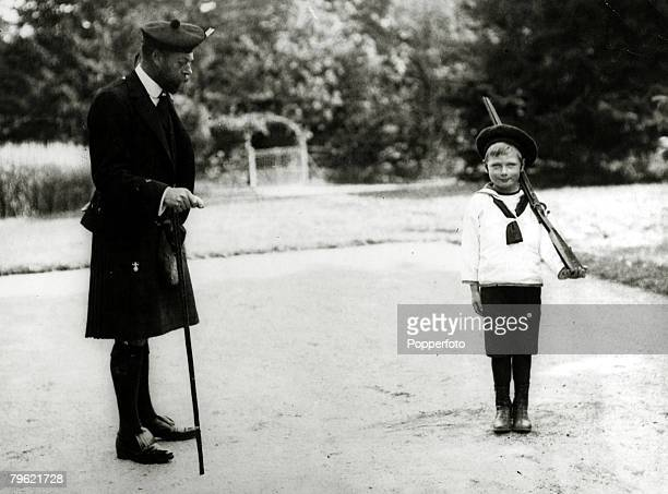 King George V pictured with his son Prince John, Prince John, died of an epileptic seizure