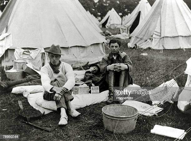 1914 HRHEdward Prince of Wales left pictured at Oxford University OTCcamp at Farnborough Hampshire The Prince of Wales was to become King Edward VIII...