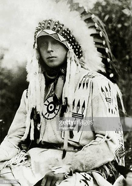 1919 HRHEdward Prince of Wales pictured in Canada dressed as an Indian chief The Prince of Wales was to become King Edward VIII for a short while in...