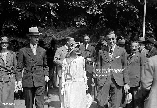 1922 HRH The Duke of York with Elizabeth BowesLyon as they attended a wedding at Loughton Essex