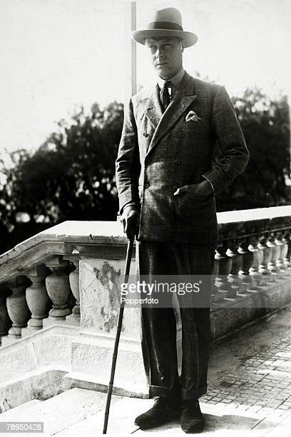 Edward, Prince of Wales pictured on holiday in Biarritz, South-West France, The Prince of Wales was to become King Edward VIII for a short while in...