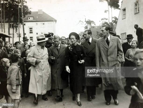 1937 The Duke and Duchess of Windsor pictured in Berlin Germany with left the German Labour Front leader DrLey The Duke of Windsor was to become King...