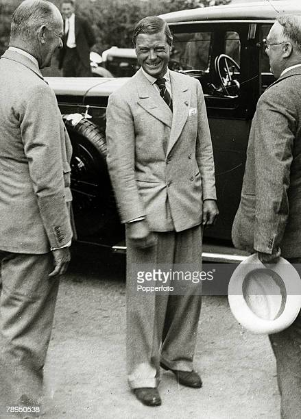 19th July 1934 HRH Edward The Prince of Wales in high spirits as he arrives in Dartmouth Devon Later King Edward VIII he was King in only 1936 and...