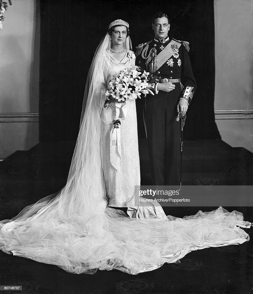 29th November 1934, The wedding of HRH,The Duke of Kent to HRH, The Princess Marina of Greece, pictured here at Buckingham Palace