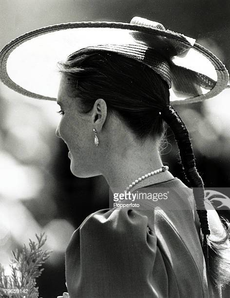 4th June 1987, The Duchess of York during a visit to the Founders Day Parade at the Chelsea Hospital for retired soldiers