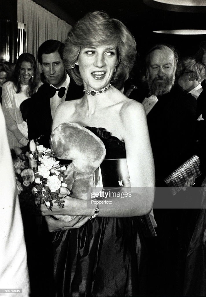 British Royalty. pic: 9th December 1982. Diana, Princess of Wales pictured at a London film premiere. : News Photo