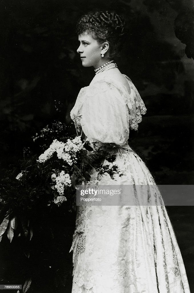 British Royalty. pic: circa 1892. Princess Mary of Teck, (1867-1953) who was to become Queen Mary the Queen Consort of King George V. : News Photo