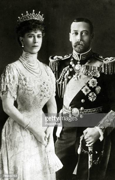 circa 1911 HM King George V with the his Consort Queen Mary King George V reigned from 19101936