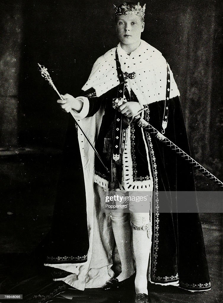 circa 1912, HRH,Edward, Prince of Wales pictured in formal dress near the time of his investiture, The Prince of Wales (1894-1972) was to become King Edward VII for a short while in 1936 but abdicated due to his romance with Mrs, Wallis Simpson
