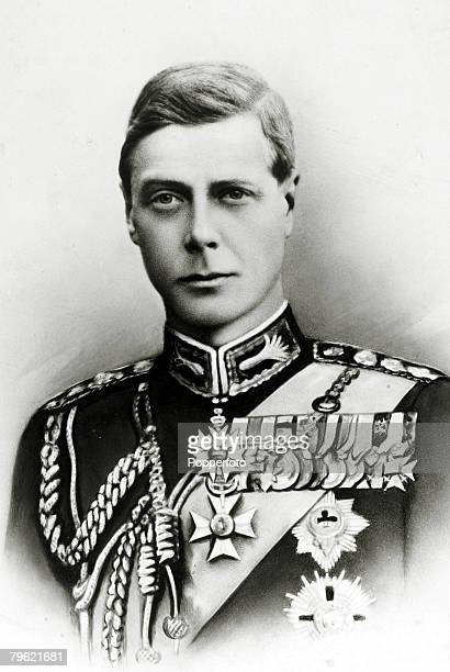 Circa 1920's, HRH,Edward, Prince of Wales pictured in ceremonial dress, The Prince of Wales was to become King Edward VII for a short while in 1936...