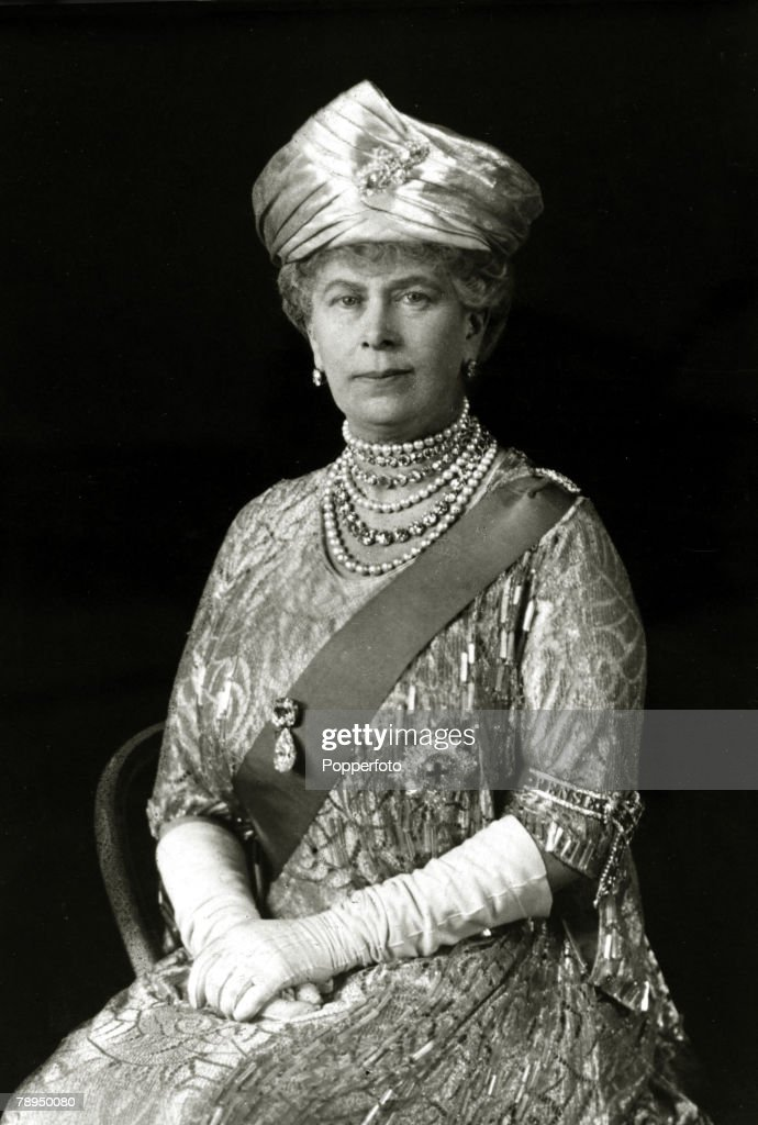 British Royalty. pic: circa 1930's. HM.Queen Mary, portrait. Queen Mary, (1867-1953) born Mary of Teck, was the Queen Consort of King George V. : News Photo