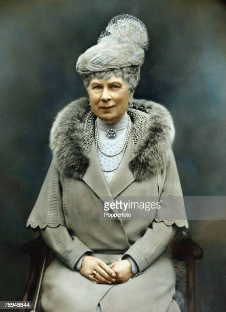 circa 1935 HRH Queen Mary sitting for a portrait Queen Mary formerly Mary of Teck was the Queen Consort of King George V