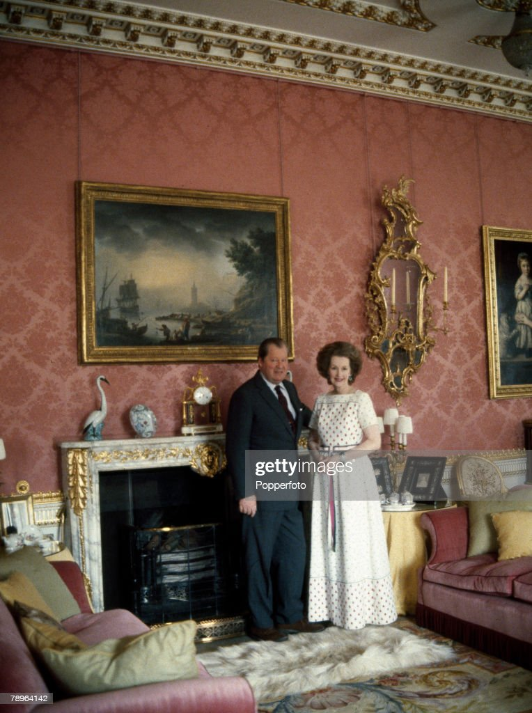 circa 1980, Earl and Countess Spencer photographed at Althorp House in Northamptonshire
