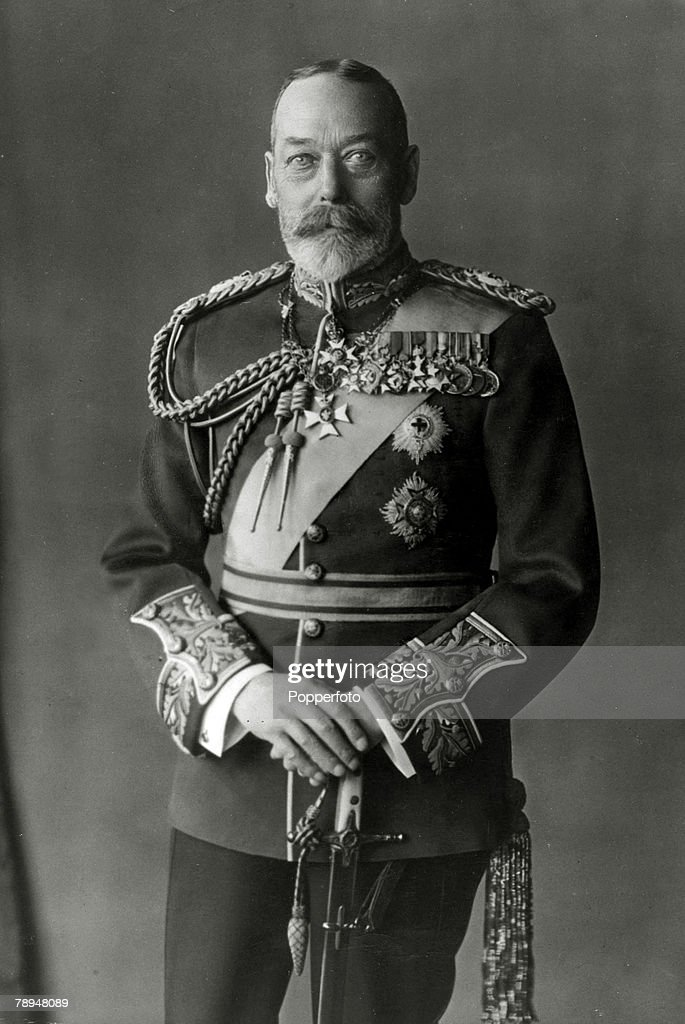 British Royalty. pic: circa1920. HM.King George V, portrait. King George V (1865-1936) reigned 1910-1936). : News Photo