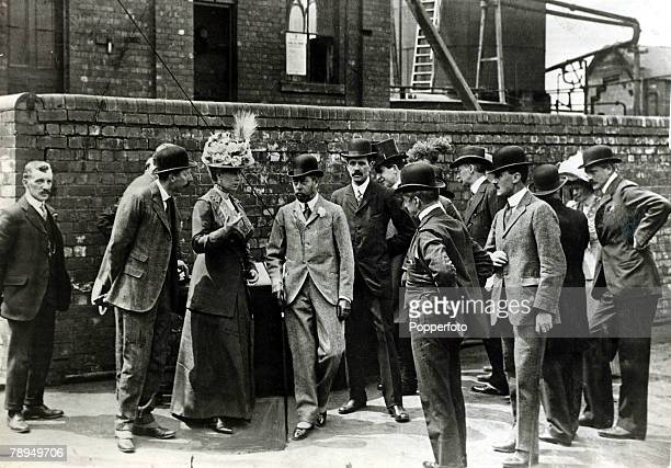 July 1912 HMKing George V and his Consort Queen Mary visiting Silverwood Colliery in South Yorkshire King George V reigned from 19101936