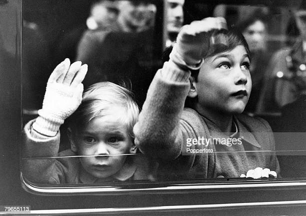 March 1947 Tilbury London Prince William of Gloucester right with his brother Prince Richard of Gloucester having returned by ship from Australia...