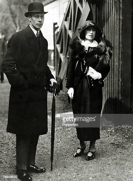 May 1923 HRH The Duke and Duchess of York pictured at Glamis Castle during their honeymoon The Duke of York was to become King George VI on the...