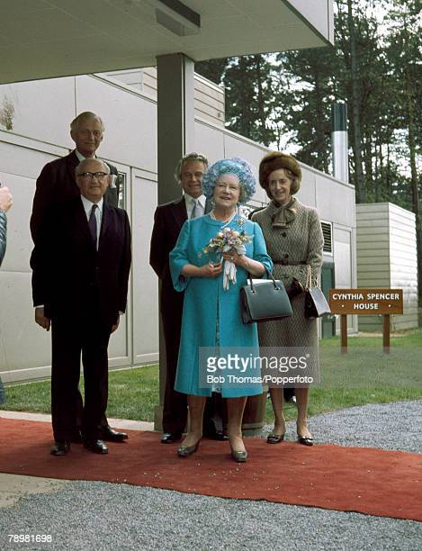 May 1976 HM Queen Elizabeth the Queen Mother opening the Cynthia Spencer House the Northampton Hospice named after the late wife of the 7th Earl...