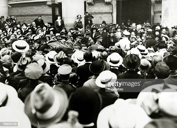 November 1919 HRHEdward Prince of Wales pictured in Ottawa Canada where an enthusiastic crowd had welcomed him to the Parliament Buildings The Prince...