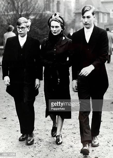 November 1959, Prince William of Gloucester, right, the Duchess of Gloucester and Prince Richard of Gloucester pictured when they attended the famous...