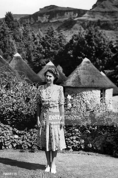 British Royalty Royal Tour of South Africa pic 1947 Princess Elizabeth pictured around the time she was celebrating her 21st birthday pictured at the...