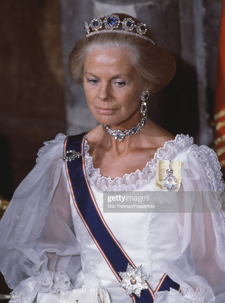 British Royalty. The Guildhall, London. April 1984. The Duchess of Kent attending a State Banquet. : News Photo