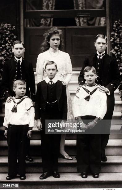 British Royalty The six children of King George V of Great Britain and Queen Mary Backlr Prince Albert Princess Mary Edward Prince of Wales Front lr...
