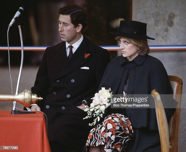 British Royalty Tour of Wales October 1981 Prince Charles with Princess Diana