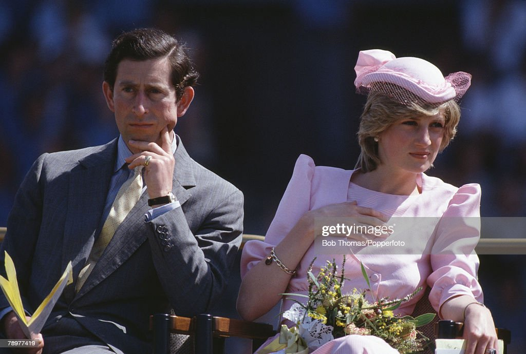 British Royalty. Tour to Australia. Newcastle, New South Wales. 30th March 1983. Prince Charles and Princess Diana at a reception for 40,000 children from over 400 local schools. : News Photo