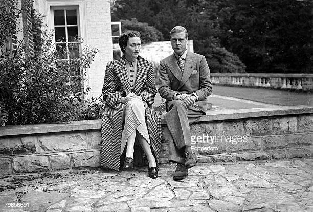 British Royalty, World War II, pic: 12th September 1939, The Duke and Duchess of Windsor pictured in the South of France