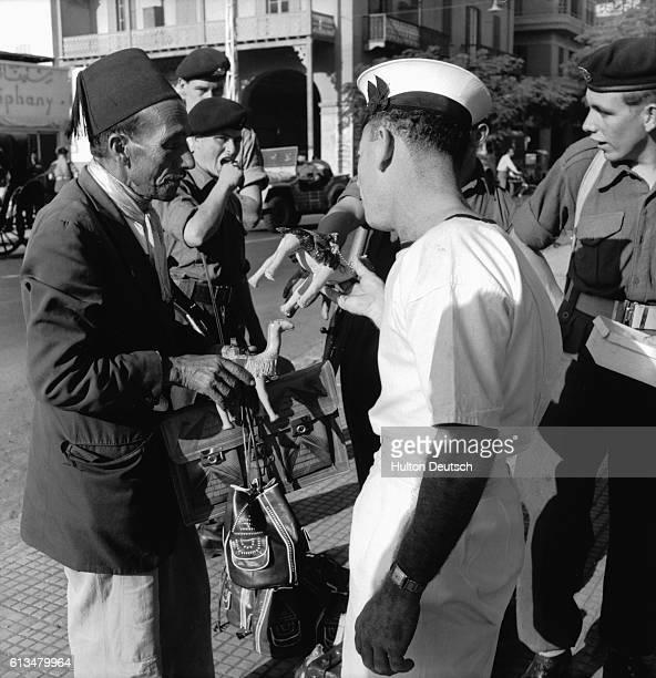 British sailor shopping in Port Said