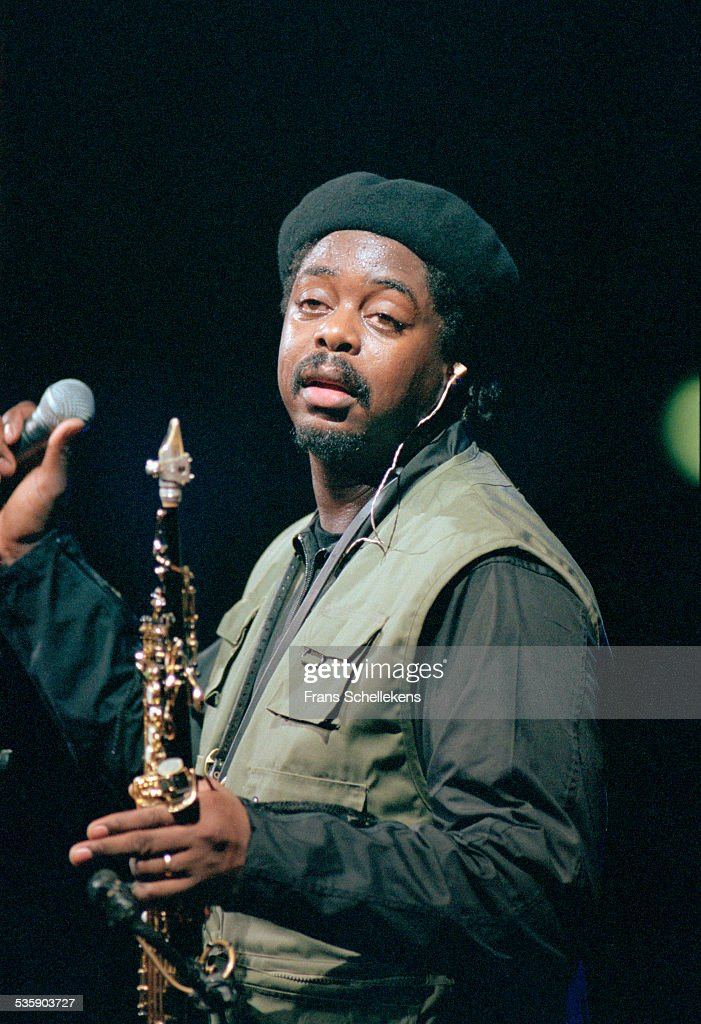 British saxophone player Courtney Pine performs on July 11th 1999 at the North Sea Jazz Festival in the Hague, Netherlands.
