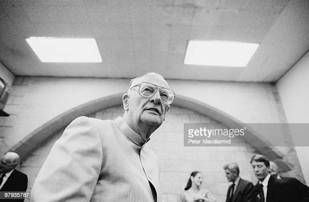 British science fiction writer Arthur C Clarke visits the House of Commons 15th July 1992