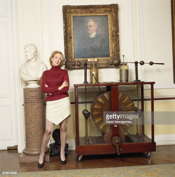 British scientist Baroness Susan Greenfield Director of the Royal Institution of Great Britain circa 2000 She is standing at the Royal Institution in...