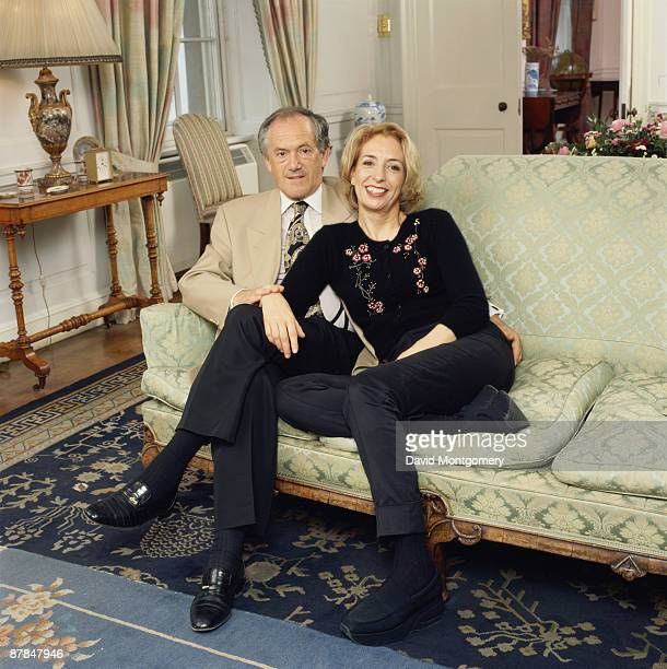 British scientist Baroness Susan Greenfield Director of the Royal Institution of Great Britain with her husband chemistry professor Peter Atkins...