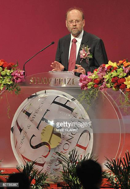 British scientist Ian Wilmut speaks at the Shaw Prize award presentation ceremony in Hong Kong on September 9, 2008. The groundbreaking scientists...