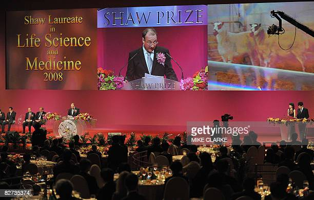 British scientist Keith Campbell speaks at the Shaw Prize award presentation ceremony in Hong Kong on September 9, 2008. The groundbreaking...