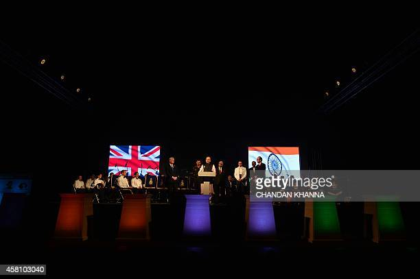 British Secretary of State for Defence Michael Fallon Indian Finance Corporate Affairs and Defence Minister Arun Jaitley and Indian Chief of Army...