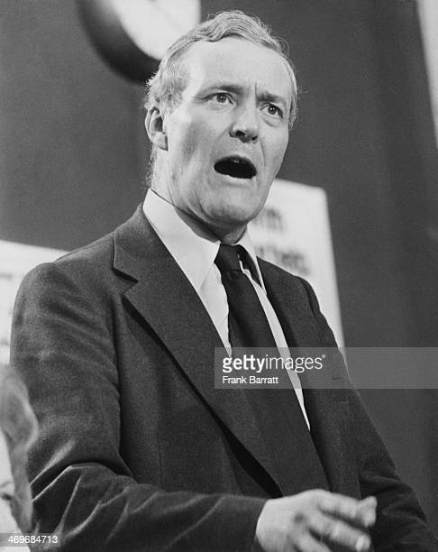 British Secretary of State for Energy Tony Benn speaking at the opening session of the Labour Party conference in Blackpool Lancashire 27th September...