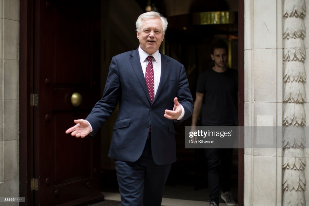 David Davis Announces Brexit Negotiations Update