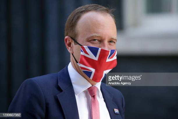 British Secretary of State for Health and Social Care Matt Hancock leaves 10 Downing Street in London, United Kingdom on June 23, 2021.