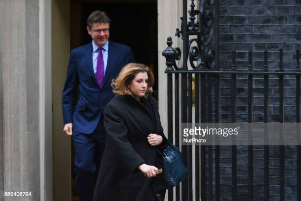 British Secretary of State for International Development Penny Mordaunt and Secretary of State for Business Energy and Industrial Strategy Greg Clark...
