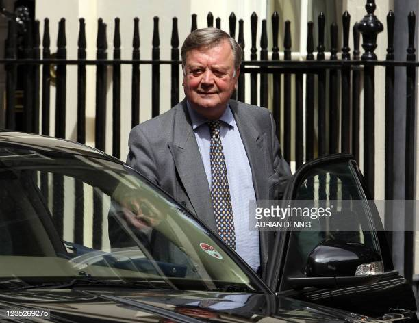 British Secretary of State for Justice, Ken Clarke, leaves 10 Downing Street in central London, on June 21 after attending the weekly Cabinet...