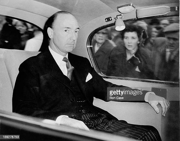 British Secretary of State for War John Profumo arrives at the House of Commons London 25th October 1962 In 1963 Profumo was forced to resign as...