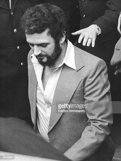 British serial killer Peter Sutcliffe, a.k.a. 'The Yorkshire Ripper,' in police custody, 1983.